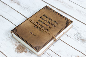 "Soothi | Containers Of Creativity - ""Hardships Extraordinary Journey "" Handmade Leather Journal"