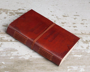 "Soothi | Containers Of Creativity - ""Write Something Worth Reading"" Handmade Leather Journal"