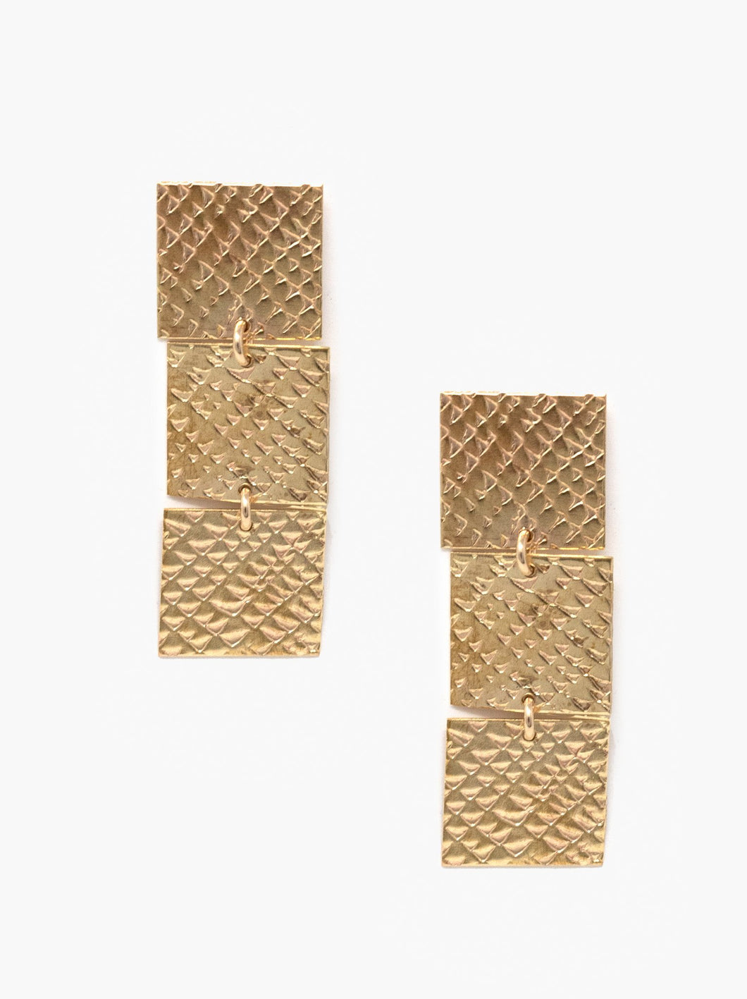 Supreme Brass Earrings