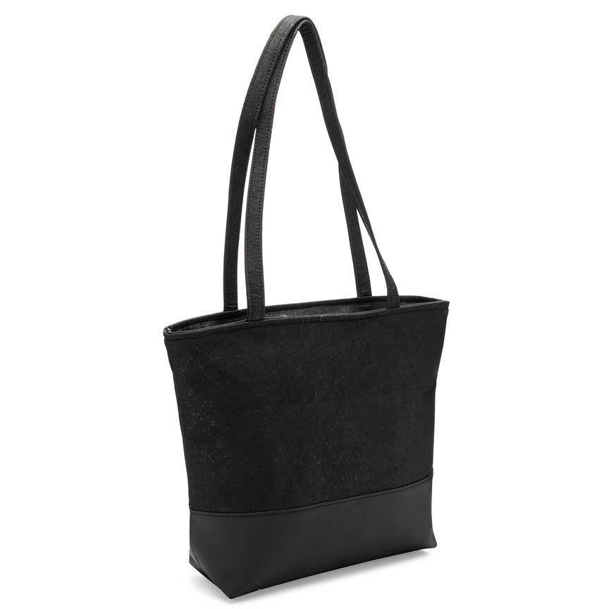 Natalie Therese - Be Basic Tote Bag | Black Cork + Faux Leather