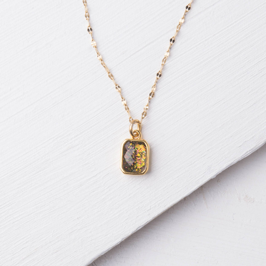 Lila Multicolored & Gold Necklace