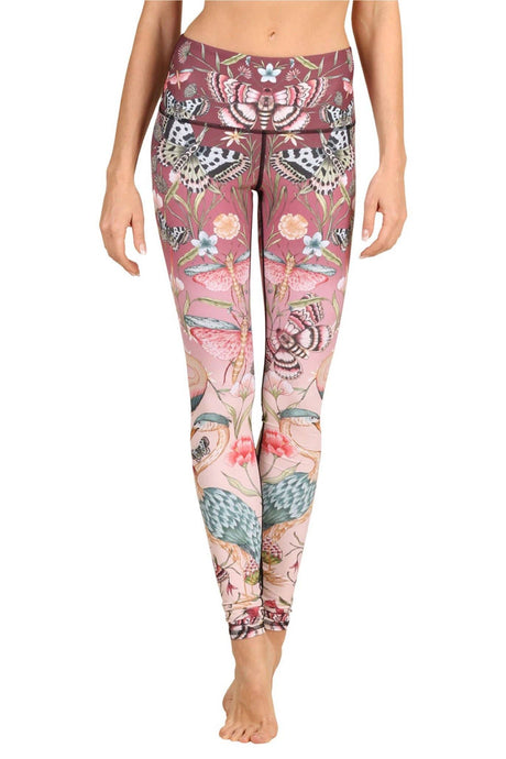 Pretty in Pink Printed Yoga Leggings
