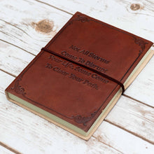 Not All Storms Come To Disrupt Handmade Leather Journal