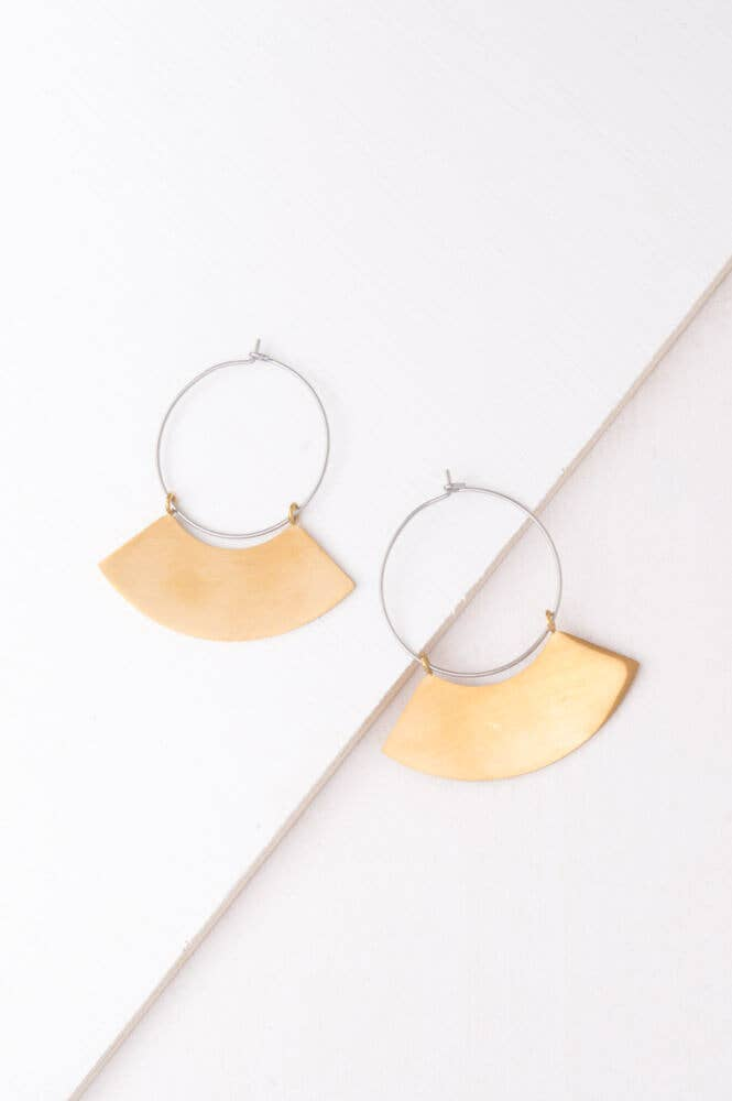 Harper Gold Silver Hoop Earrings