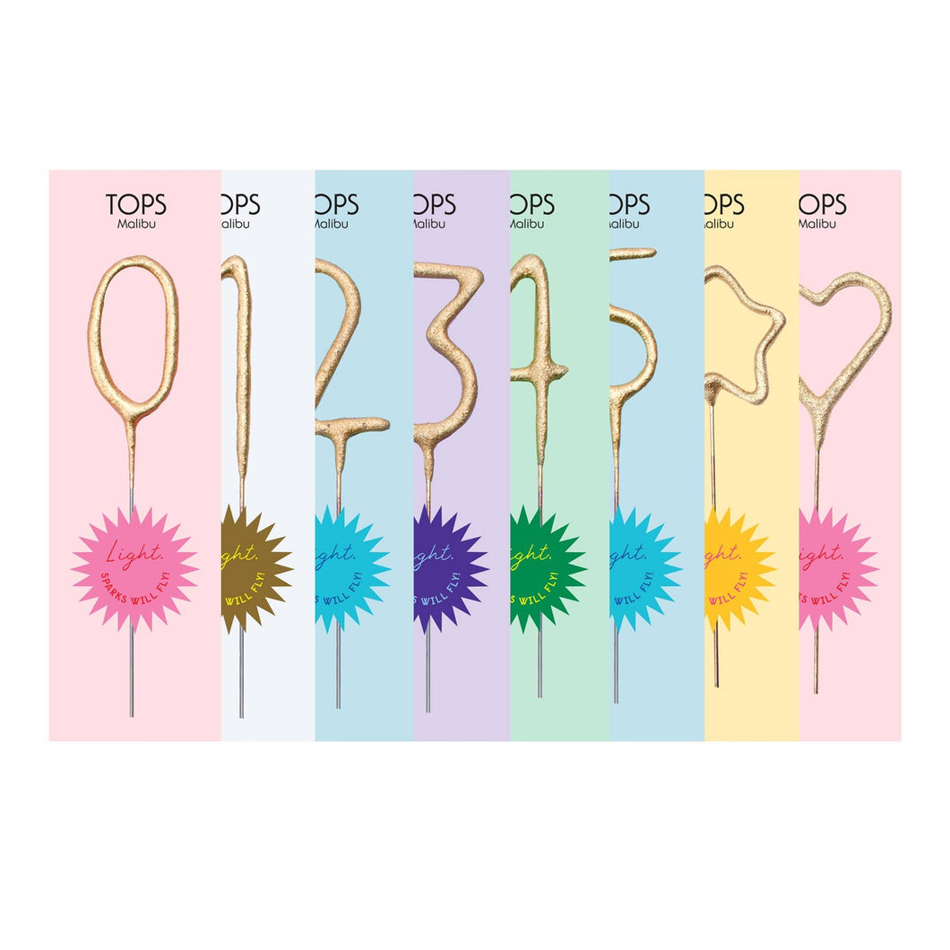 Mini Gold Number Sparklers