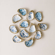 Indigo Decoupage Oyster Ring Dish - Floral