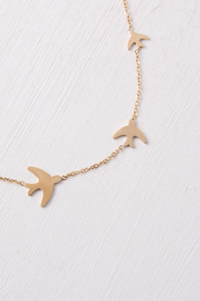 Sparrow Gold Necklace