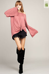 Nicolette Bamboo Off the Shoulder Top