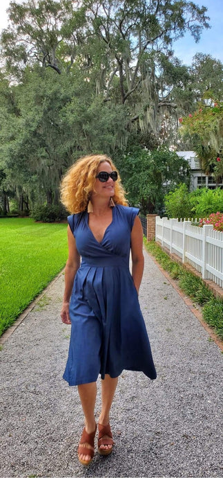 Lucille Dress Navy
