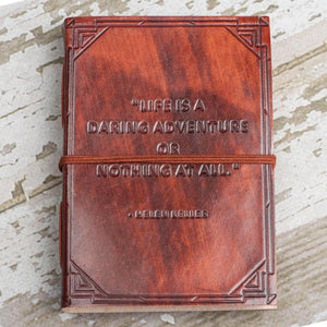"""Life is a Daring Adventure"" Leather Journal"