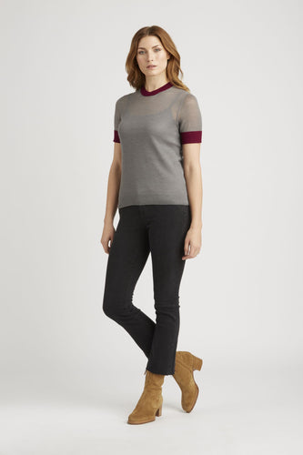 Sheer Alpaca Silk Tee - Good Aura LLC