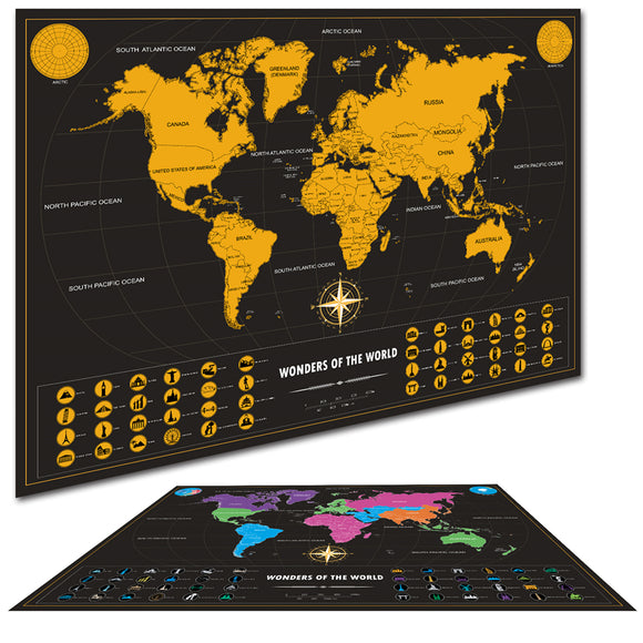 Scratch Off Vintage World Map - Limited Edition