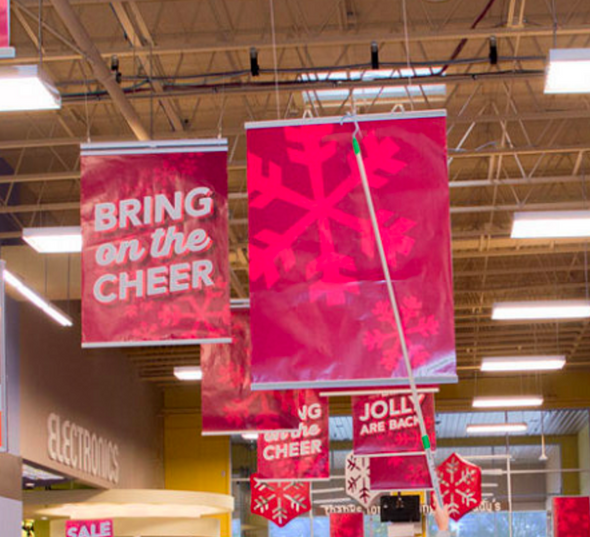 Hanging Clamp Bar Banner