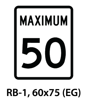 Regulatory Sign - RB-1