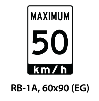 Regulatory Sign - RB-1A