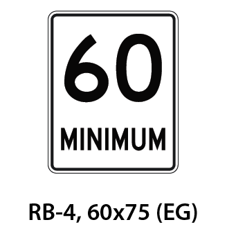 Regulatory Sign - RB-4