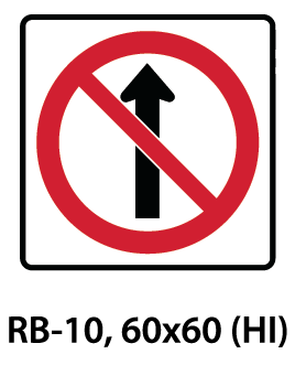 Regulatory Sign - RB-10