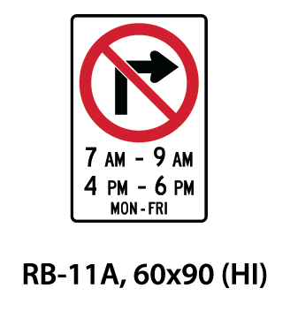 Regulatory Sign - RB-11A