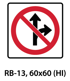 Regulatory Sign - RB-13