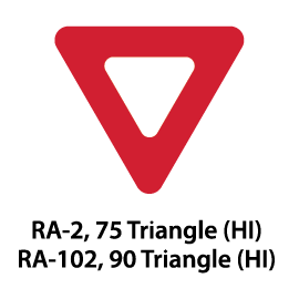Regulatory Sign - RA-2 / RA-102