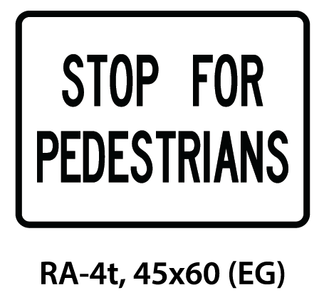 Regulatory Sign - RA-4t