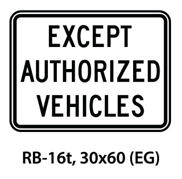 Regulatory Sign - RB-16t