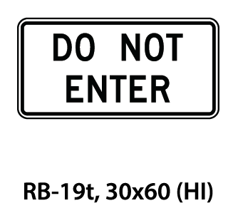 Regulatory Sign - RB-19t