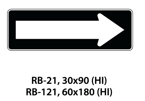 Regulatory Sign - RB-21 / RB-121