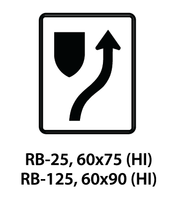 Regulatory Sign - RB-25 / RB-125