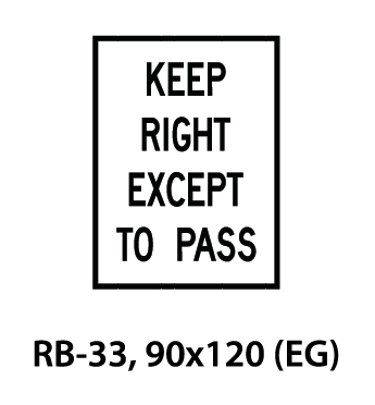 Regulatory Sign - RB-33
