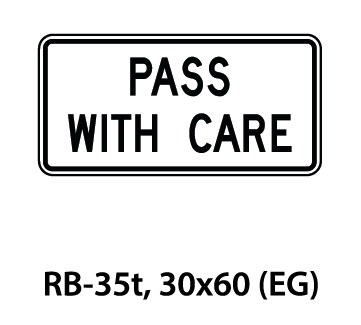 Regulatory Sign - RB-35t