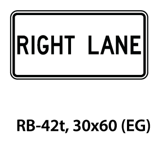 Regulatory Sign - RB-42t