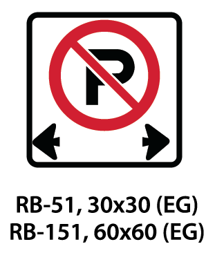 Regulatory Sign - RB-51 / RB-151