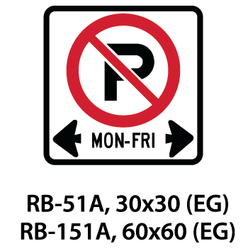 Regulatory Sign - RB-51A / RB-151A