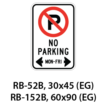 Regulatory Sign - RB-52B / RB-152B