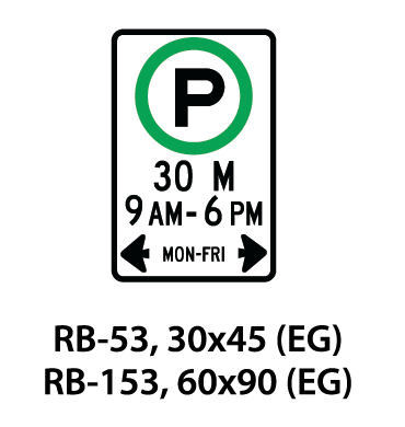Regulatory Sign - RB-53 / RB-153