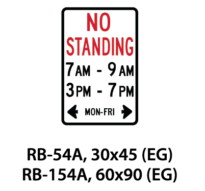 Regulatory Sign - RB-54A / RB-154A