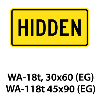 Warning Sign - WA-18t / WA-118t