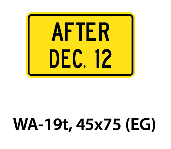 Warning Sign - WA-19t