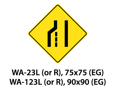 Warning Sign - WA-23L (or R) / WA-123L (or R)