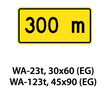 Warning Sign - WA-23t / WA-123t