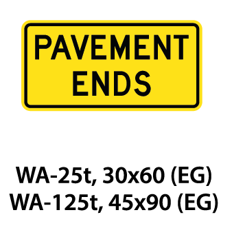Warning Sign - WA-25t / WA-125t
