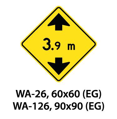 Warning Sign - WA-26 / WA-126