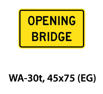 Warning Sign - WA-30t