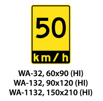 Warning Sign - WA-32 / WA-132 / WA-1132