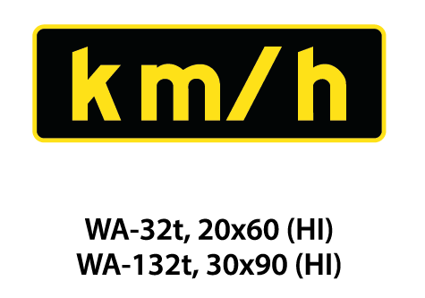 Warning Sign - WA-32t / WA-132t