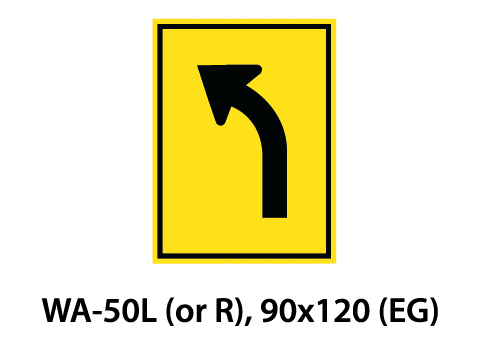 Warning Sign - WA-50L (or R)