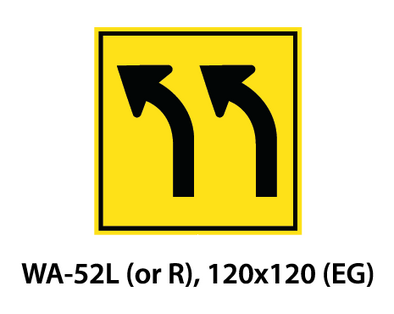 Warning Sign - WA-52L (or R)