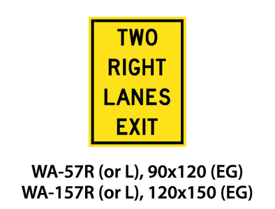 Warning Sign - WA-57R (or L) / WA-157R (or L)