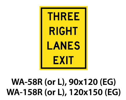 Warning Sign - WA-58R (or L) / WA-158R (or L)